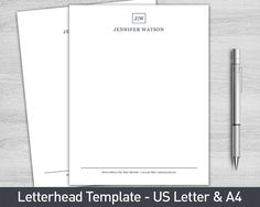 custom letterhead