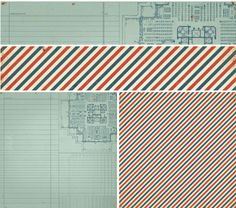 Love this air mail striped paper from Crate Story Teller