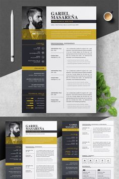Gariel Masarena Resume Template, If you like this cv template. Check others on my CV template board :) Thanks for sharing! Cv Design Template, Modern Resume Template, Creative Resume Templates, Portfolio Web, Portfolio Design, Design Jobs, Web Design, Design Trends, Conception Cv