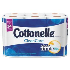 Cottonelle Clean Care Bathroom Tissue, Septic Safe, Wh at Lowe's. A premium bath tissue with unmatched, cushiony softness. Luxurious bath tissue for a premium image. Commercial Toilet, Tissue Types, Wood Source, White Sheets, Septic Tank, Toilet Paper Roll, Texture, Clean Design, Betta