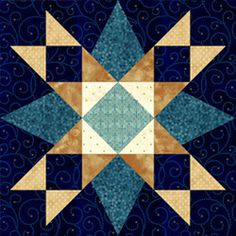 First Star I've Seen Tonight, would be pretty as a barn quilt block. Star Quilt Blocks, Star Quilts, 24 Blocks, Barn Quilt Patterns, Pattern Blocks, Quilting Projects, Quilting Designs, Patchwork Quilt, Sampler Quilts