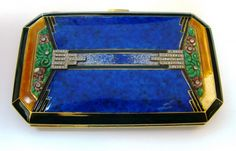 Enamel Art Deco Cigarette Case