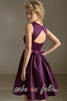 ... très chic en satin de couleur violet avec dos nu sexy - 80€ More