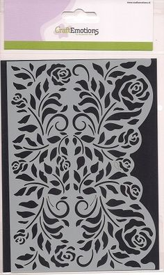 Craft Emotions Mask Stencil - Rozen Ornamentrand A5