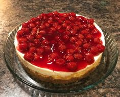 Wonderful baked cheesecake recipe with sour cream topping.
