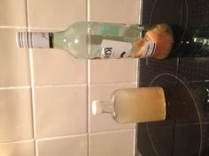 Homemade peach schnapps as favours