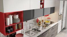 Кухня Lube Swing из Италии – купить кухню в Москве в салоне CUCINE.RU Minimalist Room Design, Kitchen Cabinets, Shelves, Home Decor, Kitchens, Trendy Tree, Shelving, Decoration Home, Room Decor