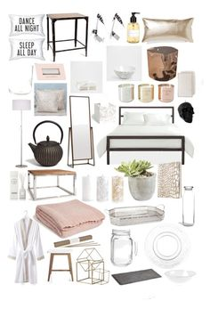 Bedroom Details by nataliebuhrer on Polyvore featuring interior, interiors, interior design, home, home decor, interior decorating, Zara Home, Crate and Barrel, Kenroy Home and NOVICA