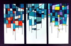 Color Schemes triptych - could do monochrome, analogous, complementary, warm / cool / black and white.