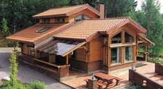 Architecture – Enjoy the Great Outdoors! Log Cabin Homes, Log Cabins, Cabins And Cottages, House In The Woods, Home Fashion, Exterior Design, Exterior Paint, Future House, Beautiful Homes