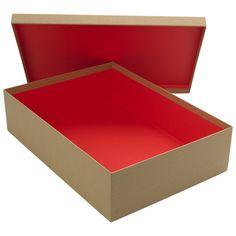 recycled kraft shirt gift box