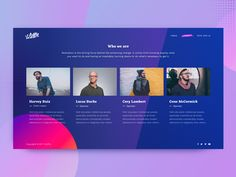 News Startup Team Page Design Exploration  by Kostya Vargatiuk