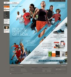 Nike's holiday gift idea site