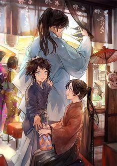 Anime, manga, and video game fan-art artworks from Pixiv (ピクシブ) — a Japanese online community for artists. Hot Anime Boy, Anime Love, Anime Guys, Manga Drawing, Manga Art, Manga Anime, Happy Tree Friends, Touken Ranbu, Samurai