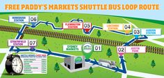 Free Paddy's Market Shuttle Bus Loop Route | Paddy's Markets