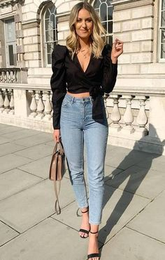 trendy: puffy sleeves, a manga bufante, hot or not? – RG PRÓPRIO by Lu K Vilar Teen Fashion Outfits, Classy Outfits, Look Fashion, Stylish Outfits, Cool Outfits, Casual Bar Outfits, Looks Chic, Blouse Outfit, Outfit Jeans