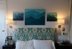 DIY Mountain Painting