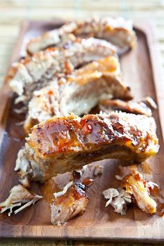 Fall off the Bone Baby Back Ribs with Sweet Chili Sauce ~ http://steamykitchen.com