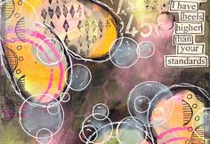 Art Journaling Mixed Media: Happy