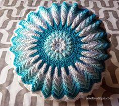 Sunburst Pillow Crochet Cotton