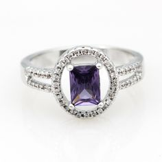 Find More Rings Information about Classic Square Accessories For Jewelry Purple Rings for Women For Pirate Party Crystal Ring with Colored Stones Bijouterie Y3377,High Quality ring gun,China ring places Suppliers, Cheap ring mood from Uloveido Official Store on Aliexpress.com