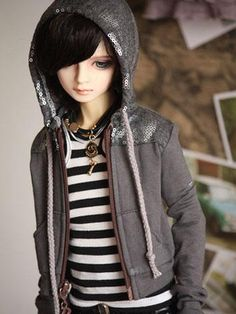 BJD Clothes gray coat for SD13/SD17/MSD Ball-jointed ...