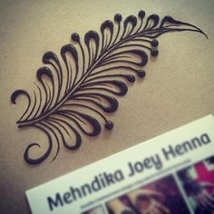 Simply beautiful feather design Henna designs