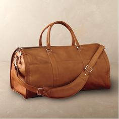 Convertible Leather Duffel Bag. $250