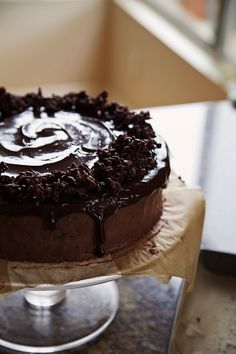 Four Layer Chocolate Mousse Cake #recipe