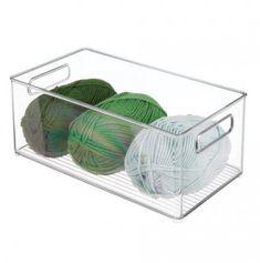 mDesign Long Plastic Art/Craft/Sewing Storage Organizer Bin, Clear, x x Pack of 8 Diy Toy Storage, Laundry Room Organization, Storage Bins, Storage Organization, Closet Storage, Kitchen Storage, Storage Solutions, Plastic Drawers, Plastic Bins