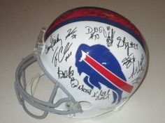 SOLD OUT! 2012 Buffalo Bills team signed Riddell full size football helmet w/ proof photo. Proof photos of the Bills signing will be included with your purchase along with a COA issued from Southwestconnection-Memorabilia, guaranteeing the item to pass authentication services from PSA/DNA or JSA. Free USPS shipping. www.AutographedwithProof.com is your one stop for autographed collectibles from Buffalo Bills & NFL teams. Check back with us often, as we are always obtaining new items.