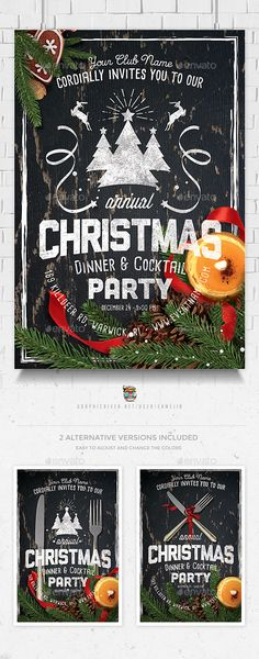Template For Christmas Party Invitation Pinterest Template