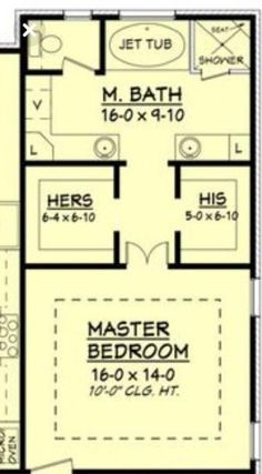 Ooh, nice layout for upstairs loft. Only, I would put a small bathroom opposite . - - Ooh, nice layout for upstairs loft. Only, I would put a small bathroom opposite . Master Bedroom Addition, Master Bedroom Plans, Master Bedroom Bathroom, Closet Bedroom, Bath Room, Closet Space, Bathroom With Closet, Bath Tub, Bedroom Suites