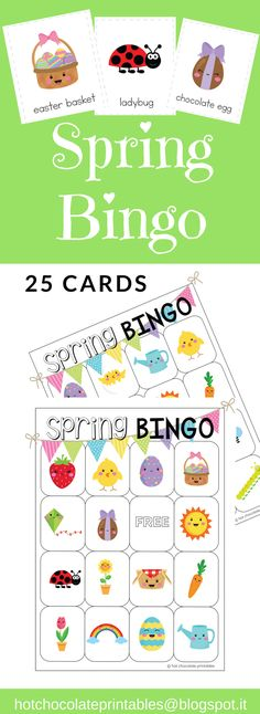 Spring vocabulary building Bingo is great for practicing and reviewing Spring vocabulary words in the ESL or young learners classroom! Includes 25 Bingo cards and 5 pages of matching flashcards.