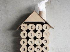 DIY-Anleitung: Last Minute-Adventskalender aus Toilettenpapierrollen basteln via DaWanda.com