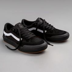 The Vans Berle Pro - now available in Black-Black-White #skatedeluxe #SK8DLX