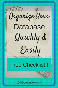 Real estate agents - is your database a shambles? Here is how to Organize Your Database Quickly and Easily - streamline your contact tasks and keep your pipeline full! Check it out! Real Estate Software, Real Estate Video, Real Estate Leads, Selling Real Estate, Real Estate Investing, Real Estate Office, Real Estate Business, Real Estate Marketing, Small Business Organization