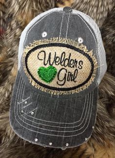 Welders Girl cap by redbranchcreations on Etsy https://www.etsy.com/listing/248643082/welders-girl-cap