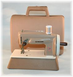 Vintage Singer Sewing machine with Case Childs Toy by Stevistuff, $55.00