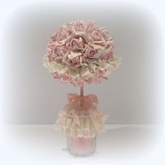 Topiary Rose Topiary Shabby Chic Topiary by uniqueboxboutique, .00