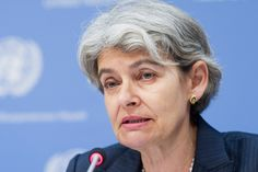L'UNESCO salue la première inculpation pour destruction de monuments historiques à Tombouctou de la CPI [La Directrice générale de l'Organisation des Nations Unies pour l'éducation, la science et la culture (UNESCO), Irina Bokova. Photo : ONU/Mark Garten]
