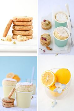 Meyer lemon souffle with Meyer lemon and pistachio shortbread cookies