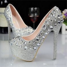 New Women Lady Waterproof Flowers Shoes Bridal Shoes Red High Heels Wedding Shoes Bridal Party Shoes Platform Bridal Shoes, Red Bridal Shoes, Bridal Party Shoes, Sparkly Wedding Shoes, Wedding Shoes Heels, Prom Heels, Platform Stilettos, Homecoming Shoes, Bling Shoes