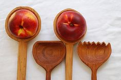Hand-carved wooden spoon serving set    Add it to your favorites to revisit it later.  handmade wooden spoons hand carved from wood