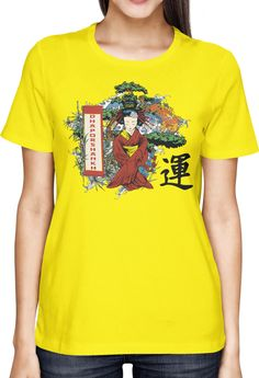 A Geisha and Koi in Dhaporshankh Garden - Dhaporshankh Girls Tee