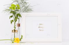 White simple fresh frame mockup ♥ by JustLikeMyDesktop on Creative Market