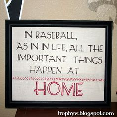 Tales of a Trophy Wife: Baseball Art