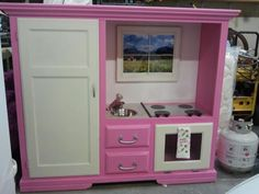 Our sub-for-Santa kitchen....So Fun to make :)   Check out the before and after pic!!