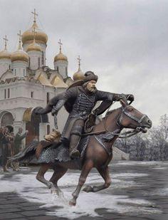 Опричник. Россия, 1570 год. РВ07.1, М1:30 (54 мм)