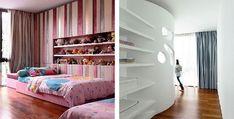 Kids Bedroom Design with Custom Designed Shelves